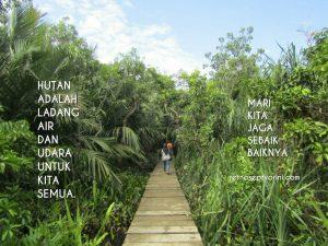 Jalur Khusus Wisatawan di Pulau Kembang