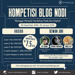 Kompetisi Blog Nodi (Sumber: https://www.nodiharahap.com)