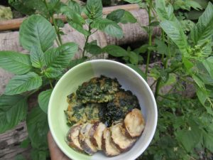 Telur bayam dan Tempura Terong, Camilan Sehat Berbahan Sayur ( Dokumentasi Pribadi)