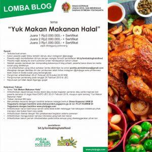 Banner Lomba Jogja Halal Food (sumber: http://www.plutjogja.com/lomba-blog-yuk-makan-makanan-halal/)