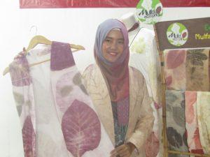 Produk Eco Print Mulva Collection yang Dipamerkan di Acara Gelar Produk Craft & Fashion Istimewa