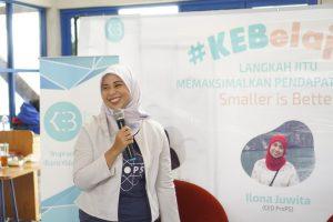 Pemaparan Materi Oleh Mbak Ilona Juwita di Acara #KEBxProPS (Dok. Foto Ardian Kusuma)