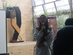 Brand Activation Manager Dompet Dhuafa, Ibu Suci Nuzleni Qadarsih di Acara Launching gerakan Jangan Takut Berbagi
