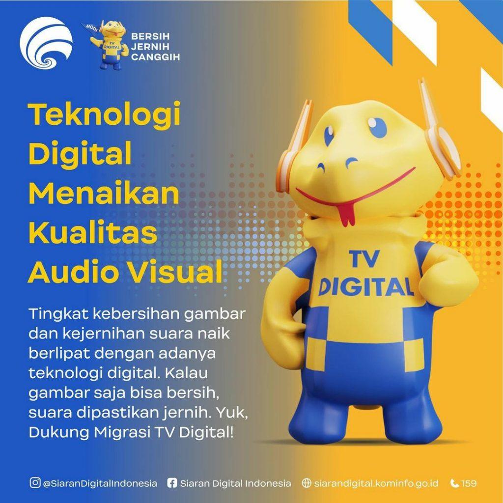 Kelebihan Migrasi TV Digital (Sumber: Instagram Siaran DIgital Indonesia)